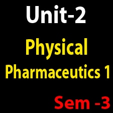 Unit 2 Physical Pharmaceutics 1